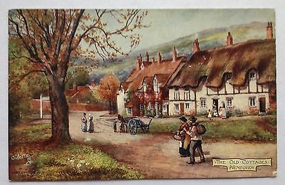 Vintage Postcard. The Old Cottages Wendover. A Tuck's Post Card. Posted JY 28 11