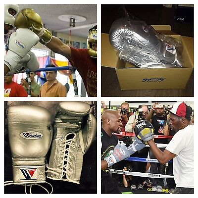 Winning Boxing Gloves 16oz Special Silver Color