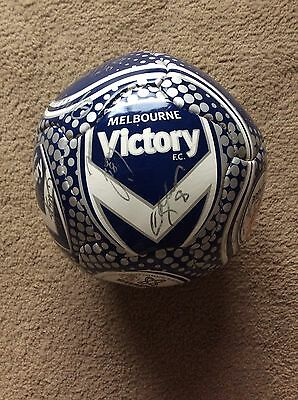 Melbourne victory team signed soccer ball