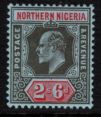 NORTHERN NIGERIA 1910-11 2/6d BLACK & RED SG 37 - unmounted mint