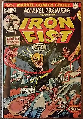 Marvel Premiere #15 (First Appearance Of Iron Fist) Lovely Vfn Copy