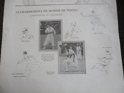 The World Lawn Tennis Championships 192O Ladies Original French Vintage Poster