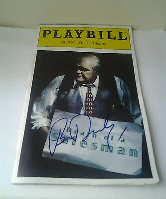Brian Dennehy Autographed Program Of Arthur Miller's Death Of A Salesman