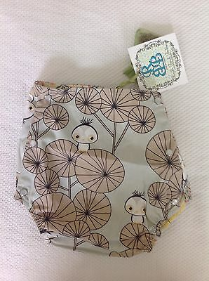 New Right Bank Babies Girls Reversible Bloomer Nappy Cover Size 12-18 Months