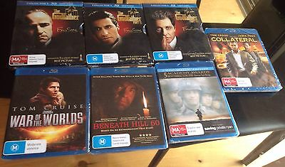 Bundle 7 X Blue Ray DVD: The Godfather Part I, II and III, Tom Cruise And More