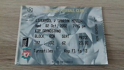 315) Liverpool v Spartak Moscow champions league 2-10-2002