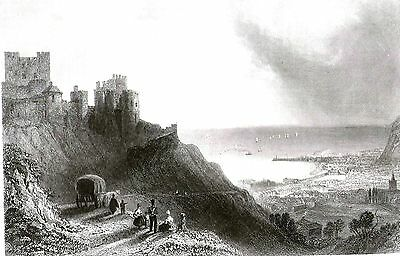 Dover Castle, Kent (From the Ramsgate Road) after William Henry Bartlett - c1840