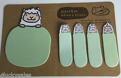 Sweet green Funny rabbit Sticker Bookmark Sticky Notes Marker Memo Post Tab Flag