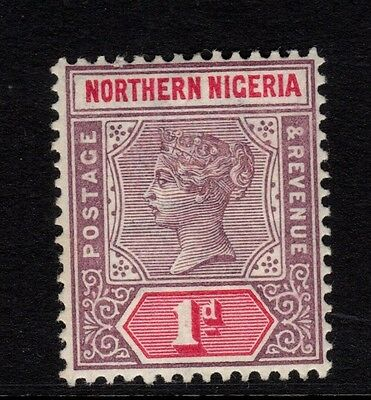 Northern Nigeria 1900 QV 1d dull mauve & carmine-sg2 - VERY LIGHTLY MOUNTED MINT