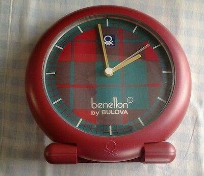 Horloge publicitaire benetton by bulova made in france