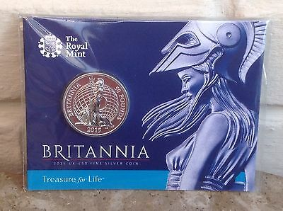 2015 £50 Fifty Pound Britannia Fine Silver Coin The Royal Mint Limited: Sold Out