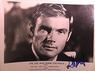 Lot 0260 10 x 8 B&W Signed Autograph Photo of US Batman Actor Adam West
