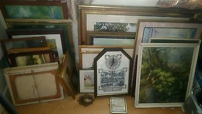 Large Lot of Framed Pictures