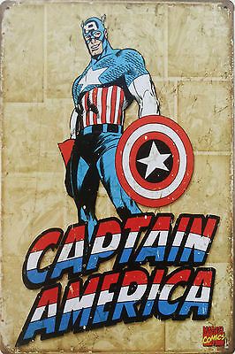 Captain America 20x30 cm metal wall plaque tin sign poster Marvel Avengers