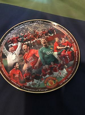 "Danbury Mint Manchester United Plate ""Champions Of Europe 2008"""