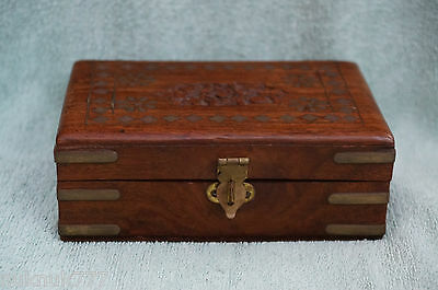 Wooden Vintage Collectable Jewerly Treasure Box