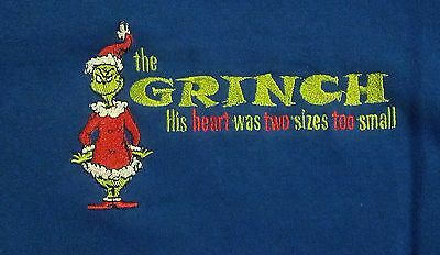 Dr Seuss How The Grinch Stole Christmas Hooded Sweatshirt Nwt Medium New/tags B