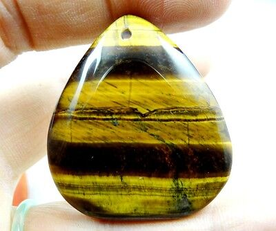 43*38MM Natural picture tiger eye agate pendant Gemstone Loose Beads  A67
