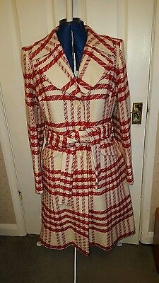 1940s style red and white coat