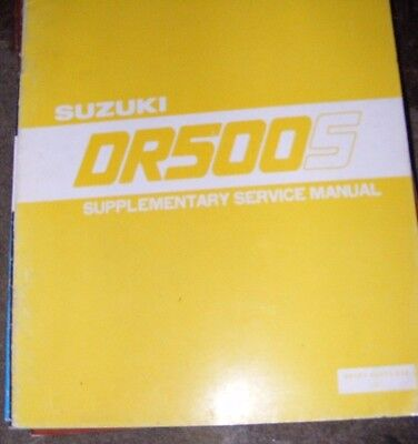 Suzuki Dr500S Service Manual (Supplementary 1981) Contents Listed