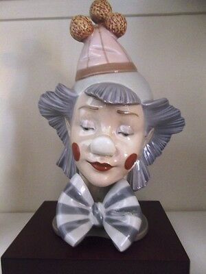 LLADRO (Retired) Rare 1988 Clown Box & Base - 5612 Cabeza Payasito Cucurucho