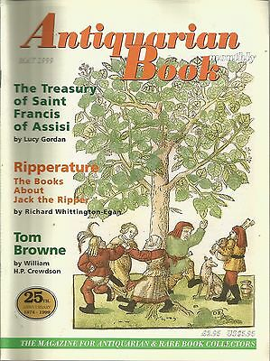 Antiquarian Book Monthly May 1999 - Ripperture/Treasury of St Francis of Assisi