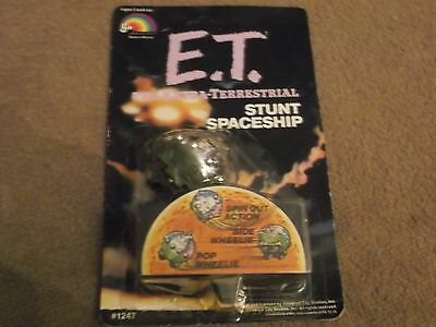 Vintage 1982 E.t, The Extra- Terrestrial  Stunt Spaceship  New  On Card