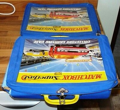 Job Lot Vintage Matchbox Lesney Carry Cases - varying condition & diecast models