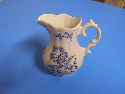 Williamsburg Andrea Sadek Hand Painted Blue Pitcher A