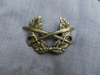 Army Pressed Metal Cavalry Cap Badge