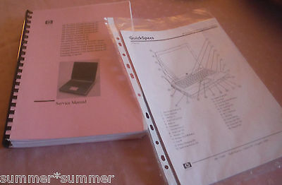 LAPTOP SERVICE MANUAL for some HP COMPAQs - PLUS QUICKSPECS FOR HP COMPAQ NX9010