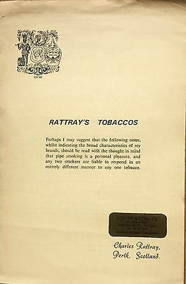 Old Rattray's Tobaccos guide, Perth, Scotland, tobacciana, pipe smoking interest