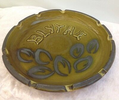 Vintage Ellis Hand Crafted Pottery Blythe Ashtray Australian 108