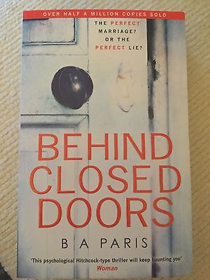 Behind Closed Doors by B A Paris - The best fiction thriller book of 2016