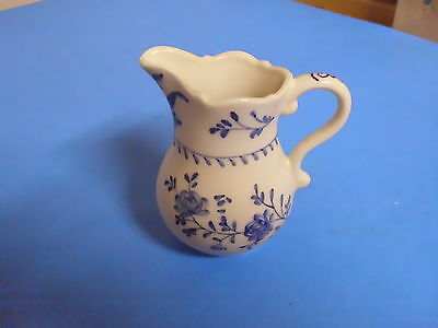 Williamsburg Andrea Sadek Hand Painted Blue Pitcher C