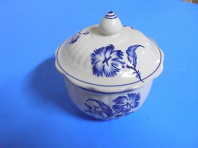 Williamsburg Andrea Sadek Hand Painted Blue Sugar Bowl C