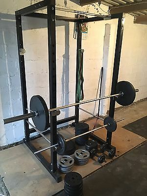 Gym Equipment Bench Power Rack Olympic And 1inch Weights Bars see Description