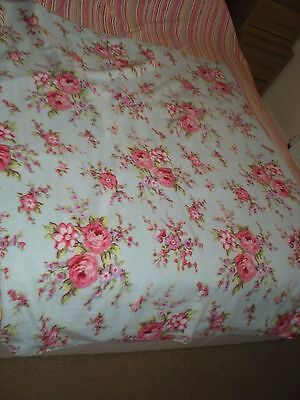 Shabby chic blue floral throw