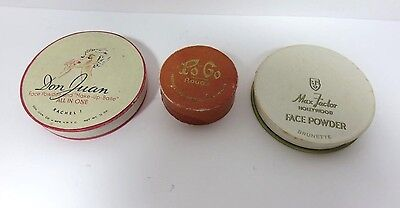 3 Misc. Vintage 1920's ~ 1940's Paper Powder or Rouge Compacts Free Shipping