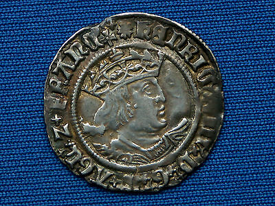 Henry VIII Groat - 2nd coinage - Tower - Bust D -  mm rose