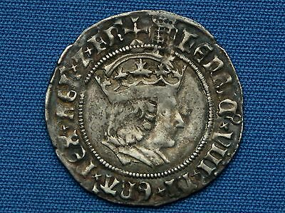 Henry VIII Groat - 1st coinage - Tower - mm portcullis - Nice grade