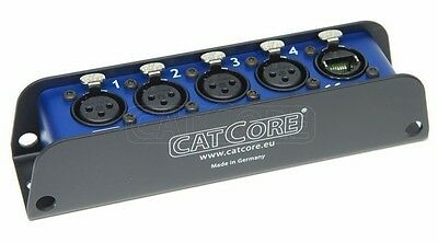 Cat RJ 45 XLR Split Neutrik Ethercon auf 4x XLR male / female für Audio und DMX