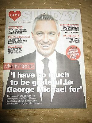 Martin Kemp Love Sunday Magazine Cover Clippings Spandau Ballet George Michael