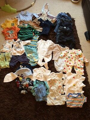 Boys Clothes Bundle 0-3 Months Over 50 Items