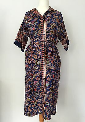 Ladies Vintage Print Cotton Dress Size XL Women's Plus Size *Stunning*