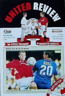 MANCHESTER UNITED v COVENTRY CITY Premier League 1994/95