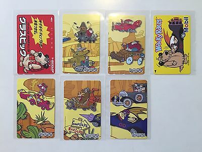 WACKY RACES JAPANESE PHONE CARDS SET Dick Dastardly Muttley - EXTREMELY RARE