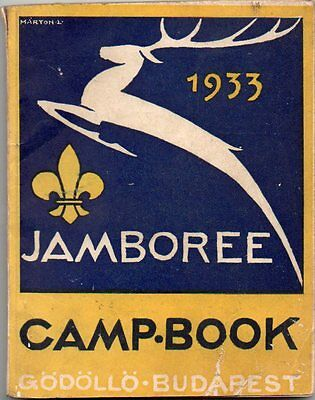 1933 World Scout Jamboree camp booklet at Godollo, Budapest