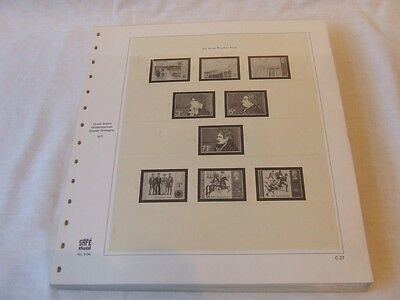 Safe Dual Great Britain Hingeless & Illustrated Stamp Album Leaves 1971-1984