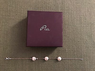 Pia Silver And Pearl Bracelet In Box - Never Worn!